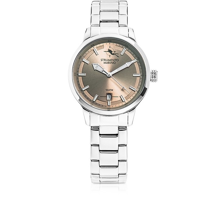 Sirenetta Stainless Steel Women's Watch w/ Butterfly Clasp - Strumento Marino