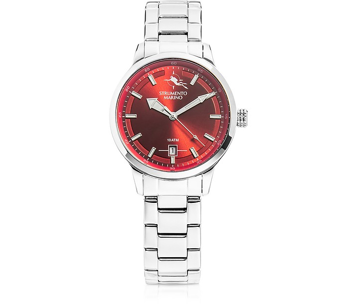 Sirenetta Stainless Steel Women's Watches w/ Butterfly Clasp - Strumento Marino