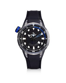 Warrior Stainless Steel and Black Silicon Men's Watch - Strumento Marino