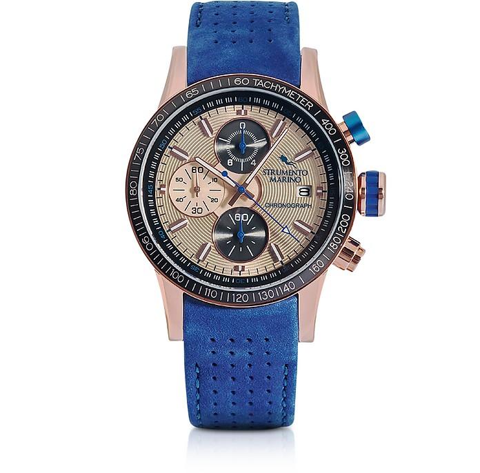 Admiral Leather Chronograph Men's Watch - Strumento Marino
