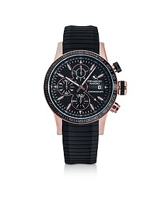 Admiral Black Silicone Chronograph Men's Watch - Strumento Marino