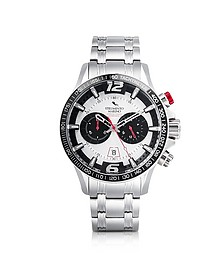 Hurricane Brushed Stainless Steel Chronograph Watch - Strumento Marino