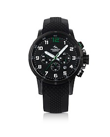 Summertime Black Stainless Steel Men's Chronograph Watch - Strumento Marino