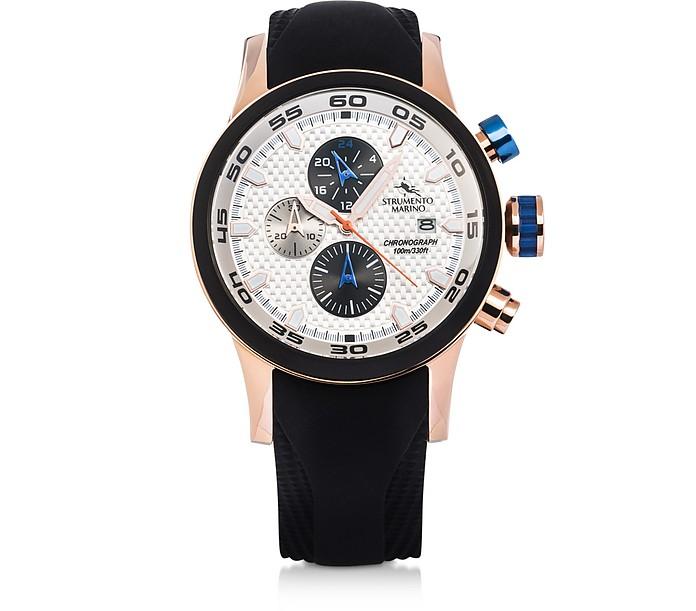 Black Speedboat Stainless Steel Men's Watches - Strumento Marino