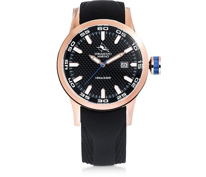 Black&Gold Speedboat Stainless Steel Men's Watches - Strumento Marino