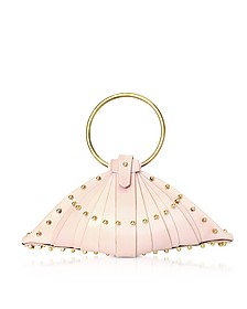 Pink Leather Shell Bag w/Studs - Una Burke