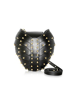 Black Leather Heart Bag - Una Burke