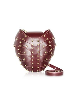 Merlot Leather Heart Bag - Una Burke