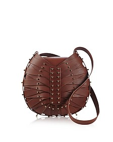 Tan Flat Shield Shoulder Bag - Una Burke