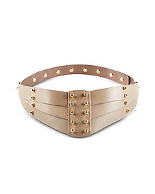 Taupe Back Detail Belt - Una Burke