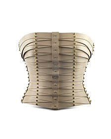 Cream Laced Strapped Bustier  - Una Burke