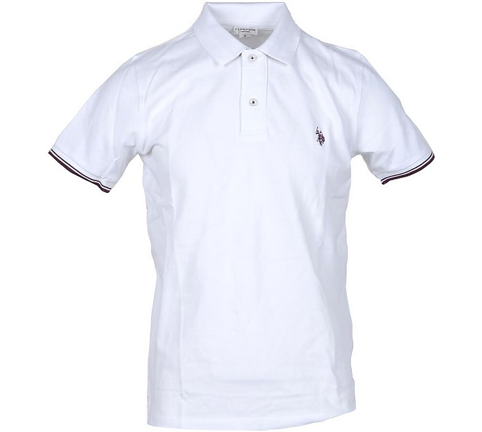 White Piqué Cotton Men's Polo Shirt - U.S. Polo Assn.