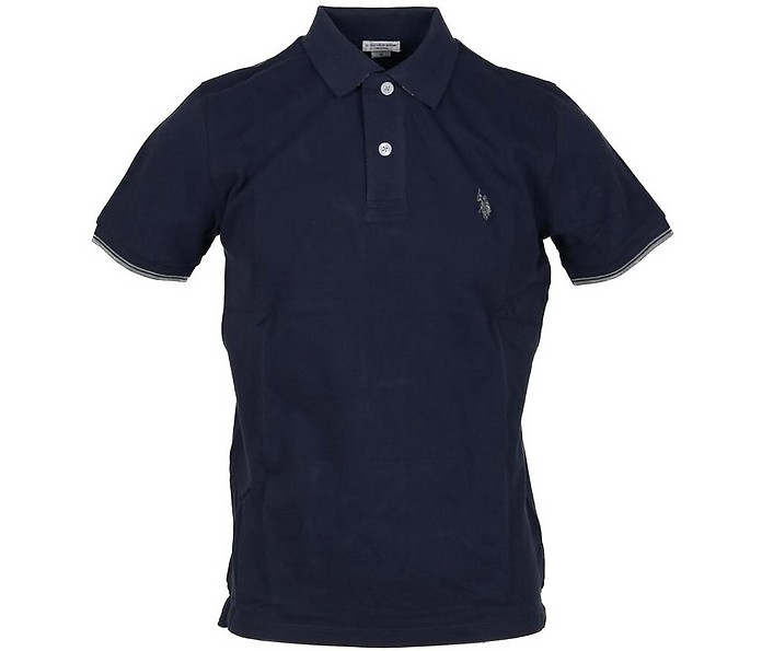Blue Piqué Cotton Men's Polo Shirt - U.S. Polo Assn.