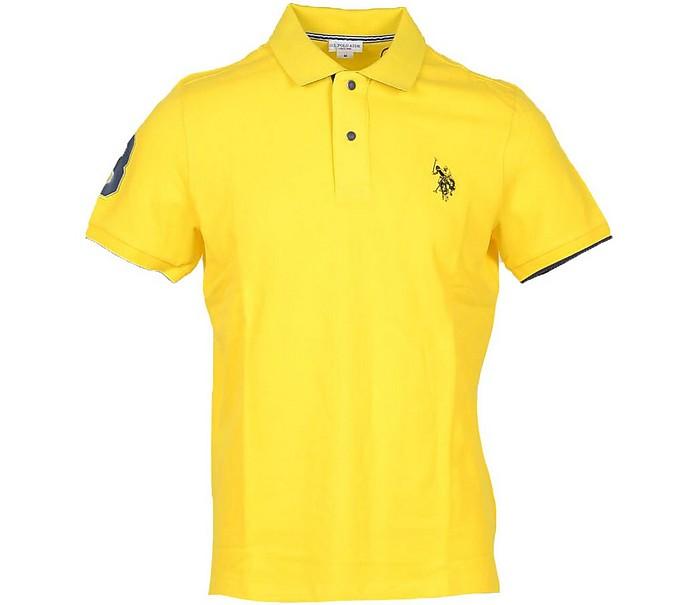 Yellow Piqué Cotton Men's Polo Shirt - U.S. Polo Assn.