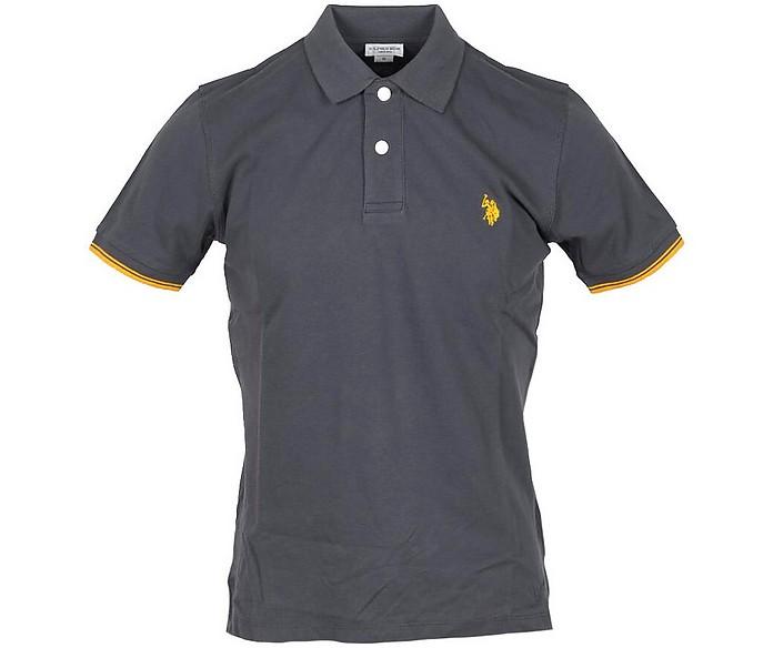 Dark Gray Piqué Cotton Men's Polo Shirt - U.S. Polo Assn.