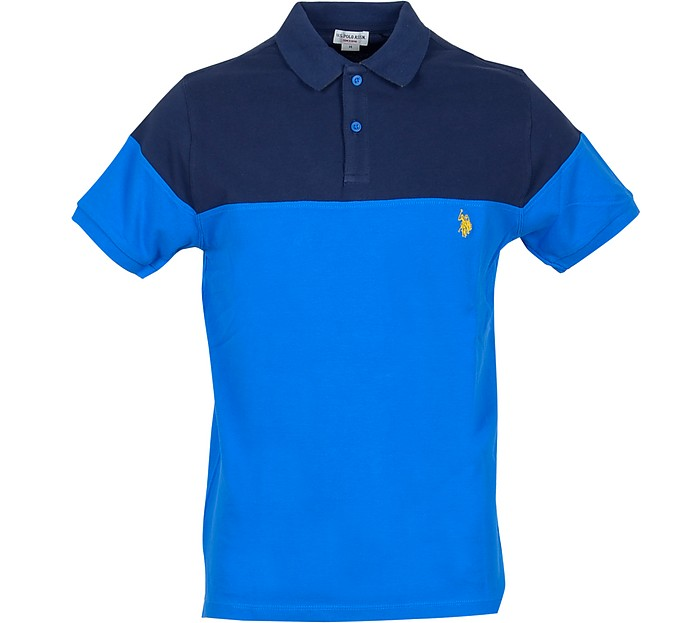 Blue/Bluette Piqué Cotton Men's Polo Shirt - U.S. Polo Assn.