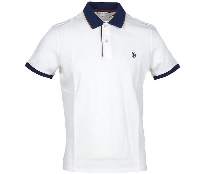 White Piqué Cotton Men's Polo Shirt - U.S. Polo Assn.
