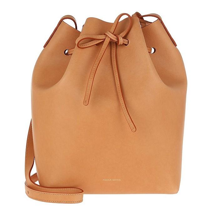 Classic Bucket Bag Cammello/Rosa - Mansur Gavriel