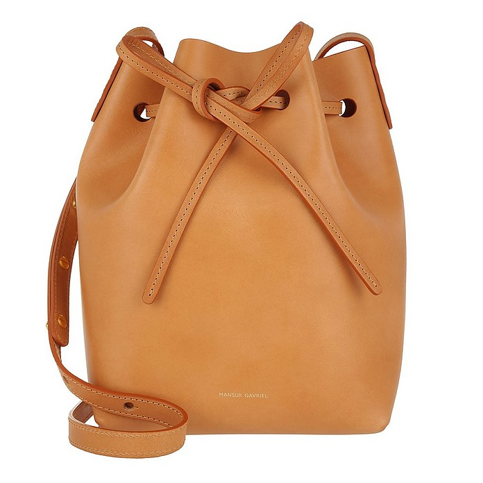 Mini Bucket Bag Cammello/Rosa - Mansur Gavriel