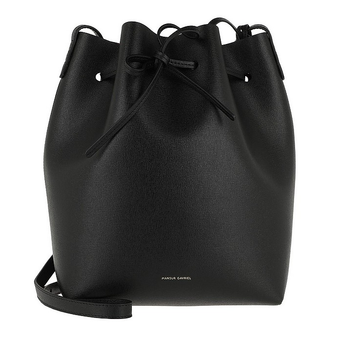 Mansur Gavriel Accessories Bucket Bag Leather Black/Fiamma
