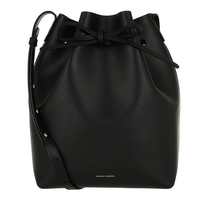 Bucket Bag Leather Black Raw - Mansur Gavriel