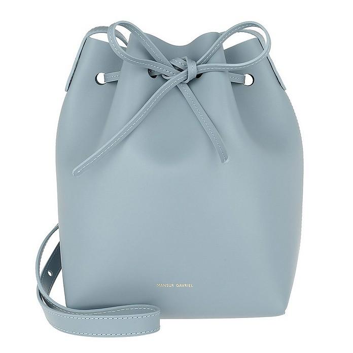 Mini Bucket Bag Grey Blue - Mansur Gavriel
