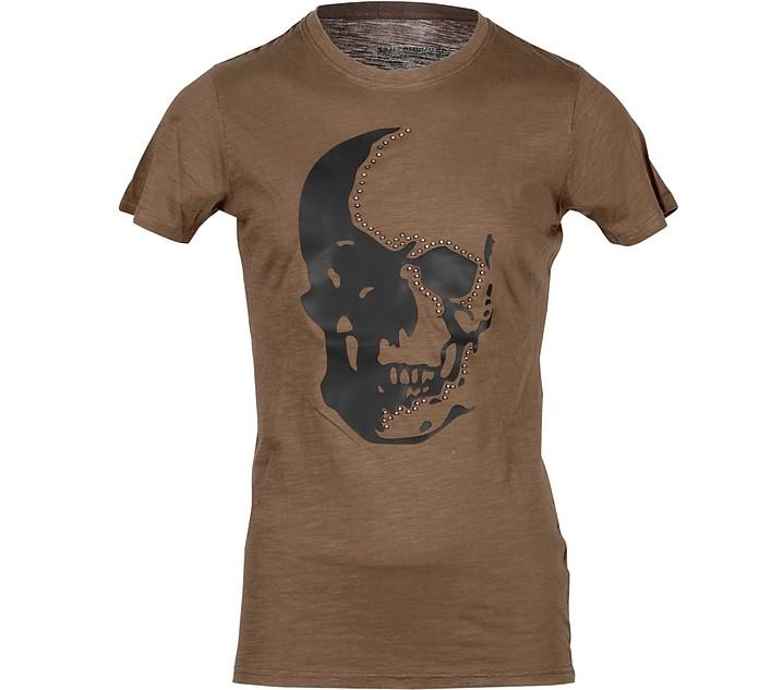 Skull Print Cotton  Men's T-shirt - Takeshy Kurosawa