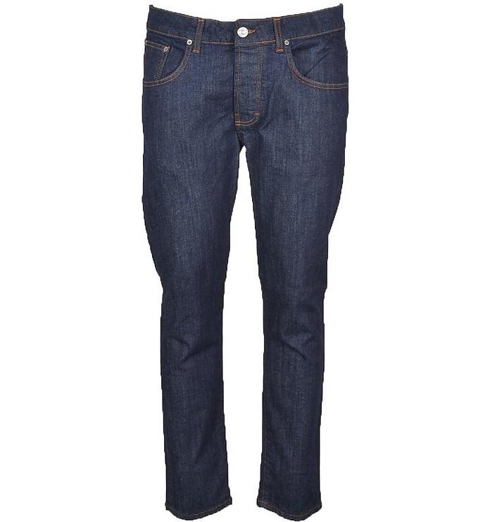 Men's Navy Blue Jeans - Takeshy Kurosawa