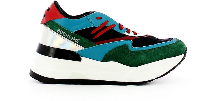 Green/Turquoise R-Evolve 4043 AT 730 Women's Sneakers - Rucoline / ルコライン