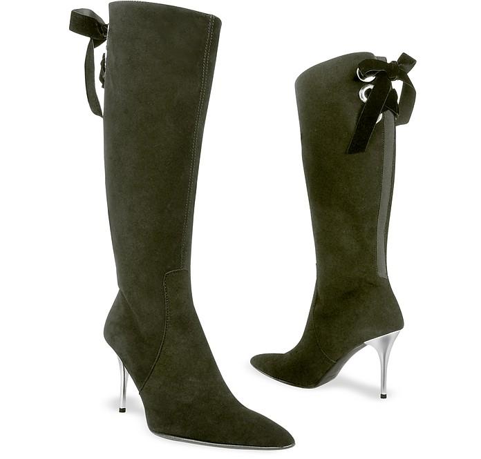 England High Heels Boots In Black Velvet