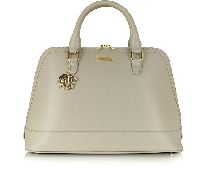 Versace Collection Large Leather Tote Bag