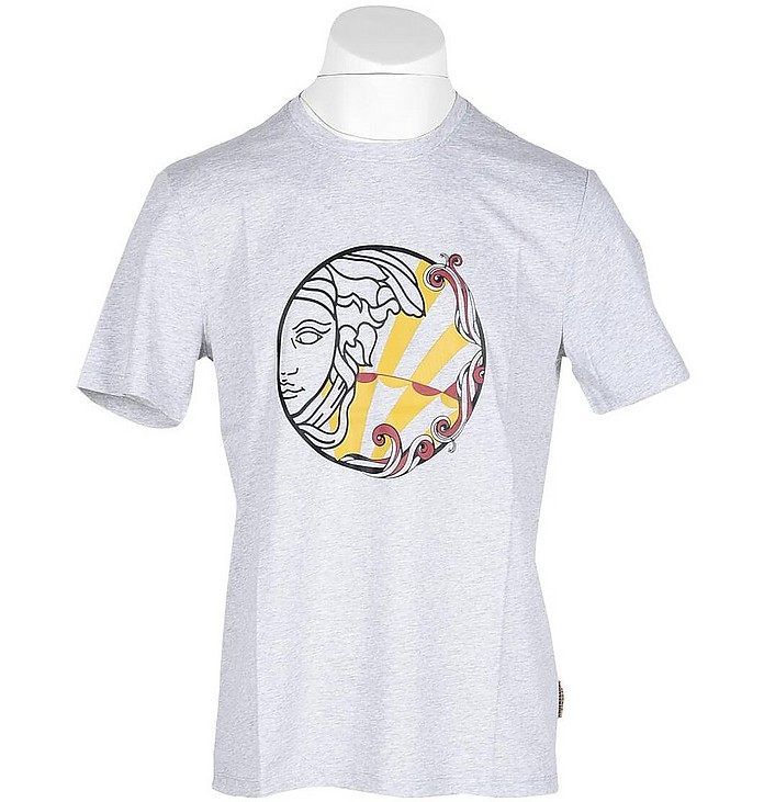 Men's Gray T-Shirt - Versace Collection