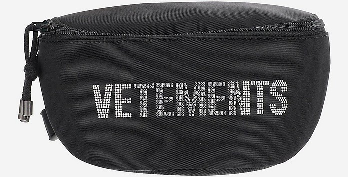 Black Nylon Men's Waistbag w/Signature - Vetements