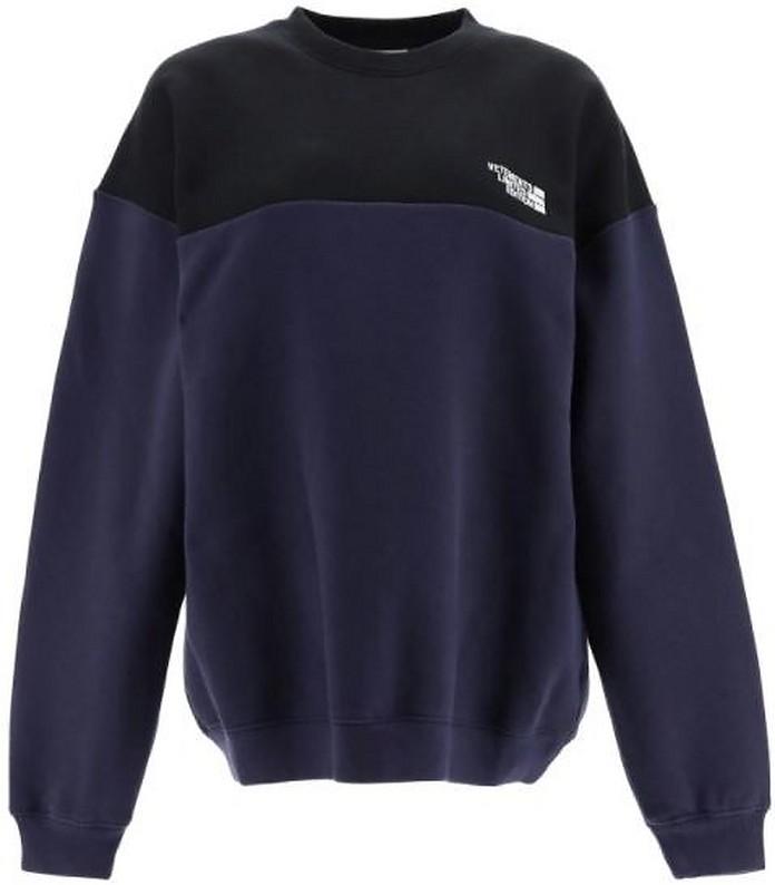 Color Block Cotton Jersey Unisex Sweatshirt - Vetements