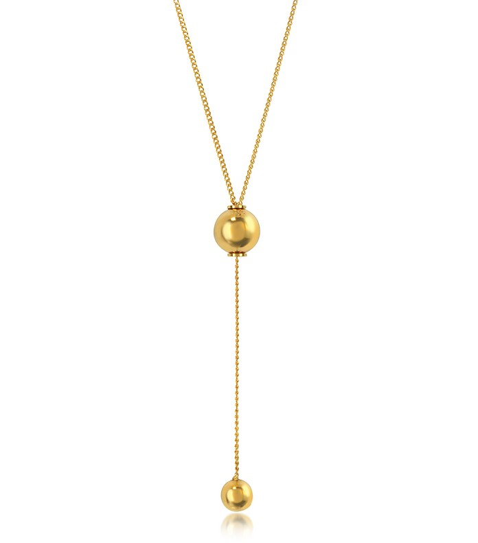O'hara Gold Tone Drop Lariat Necklace - Vita Fede