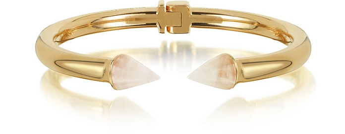 Rose Gold Plated Mini Titan Stone Bracelet w/Rose Quartz  - Vita Fede