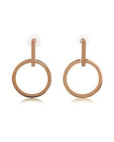 Antonia Rose Gold Tone Hoop Earrings - Vita Fede