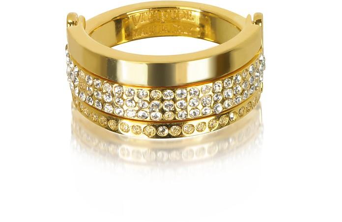 Bardot Gold Tone Ring w/Crystals - Vita Fede