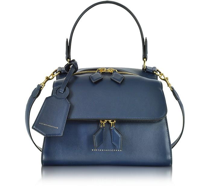 Navy Blue Mini Full Moon Bag - Victoria Beckham