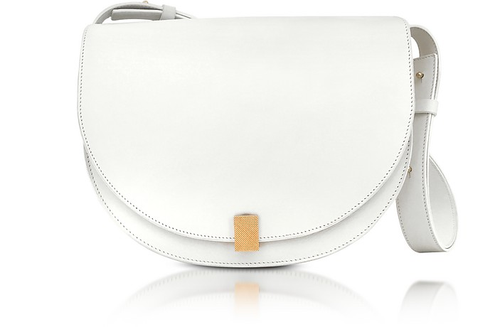 White Half Moon Box Shoulder Bag - Victoria Beckham