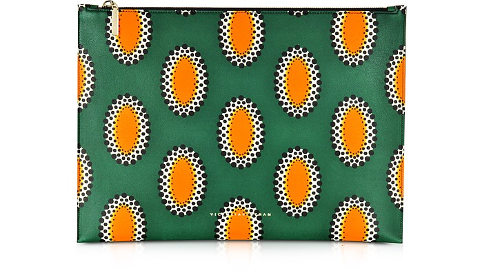 African Print Nappa Large Simple Pouch - Victoria Beckham