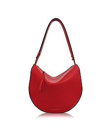 Cherry Red Leather Swing Bag - Victoria Beckham