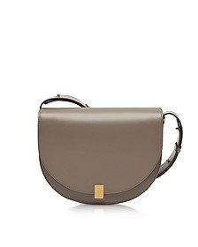 Dove Grey Leather Half Moon Box Shoulder Bag - Victoria Beckham