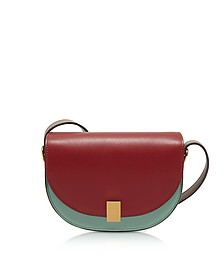 Colorblock Leather Nano Half Moon Box Crossbody Bag - Victoria Beckham