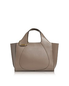 Dove Grey Leather Small Newspaper Tote Bag - Victoria Beckham