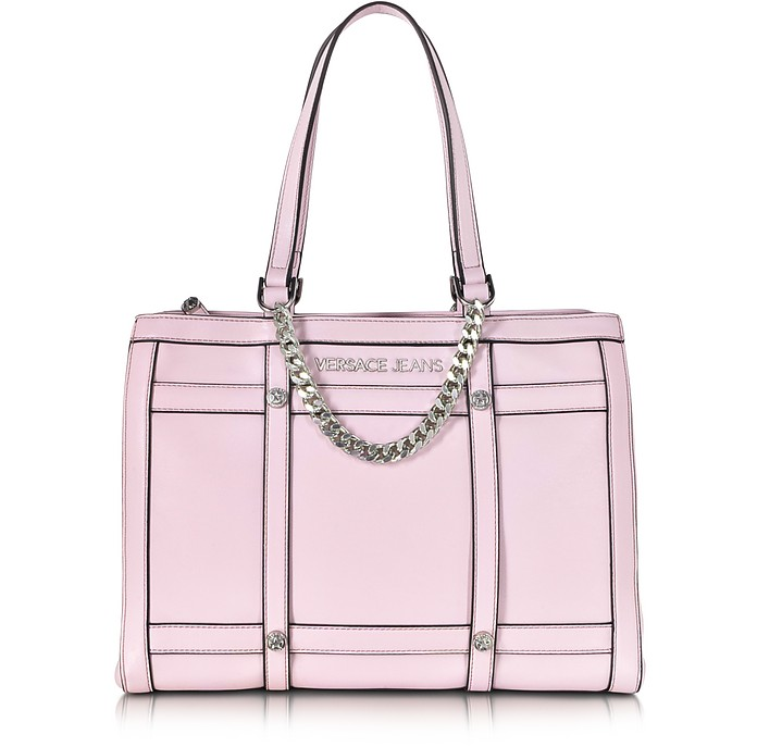 603ba4a749 Versace Jeans Light Pink Eco Leather Tote at FORZIERI