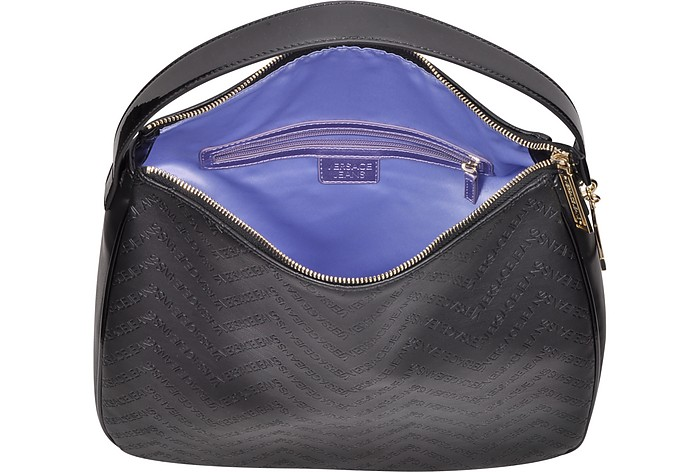 57edb0e4a2fc Black Signature Embossed Eco Leather Shoulder Bag - Versace Jeans. Sold Out