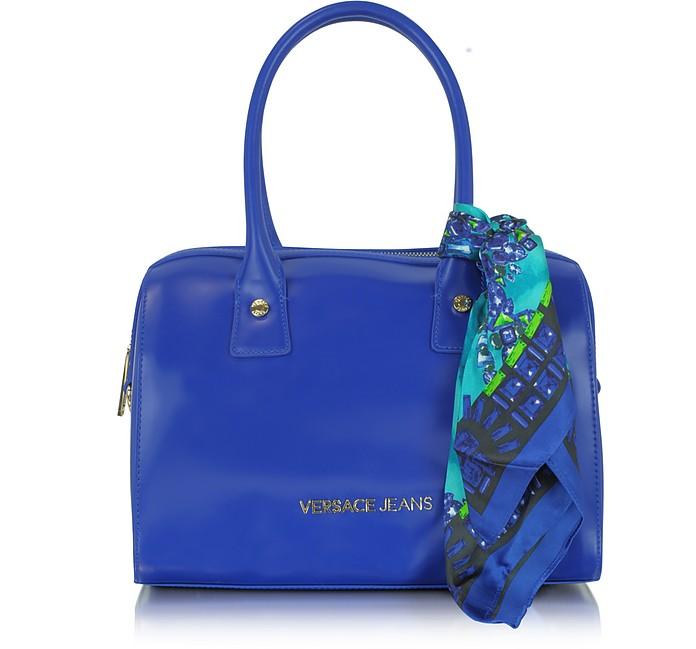 Ocean Blue Eco leather Satchel w/Scarf - Versace Jeans