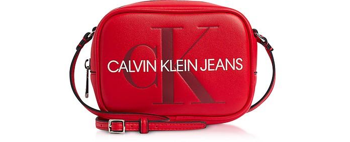 Sculpted Monogram Camera Bag w/ Signature - Calvin Klein Collection