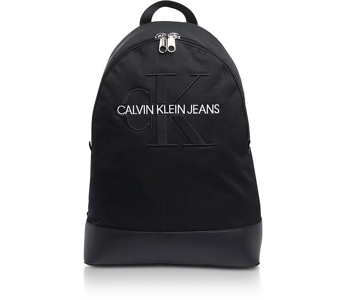 Sac à Dos Pour Ordinateur 15' Monogramme en Nylon - Calvin Klein Collection